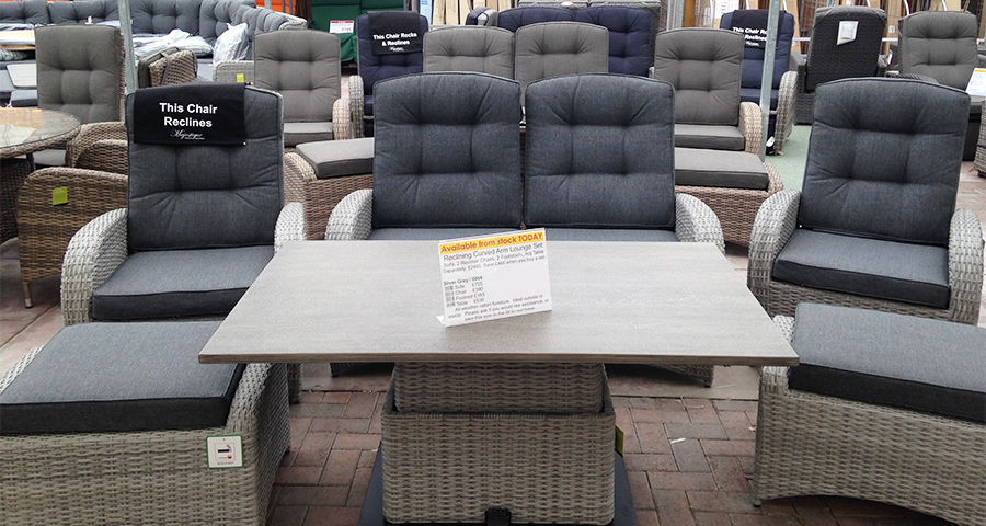 Our reclining sofa set range in rattan